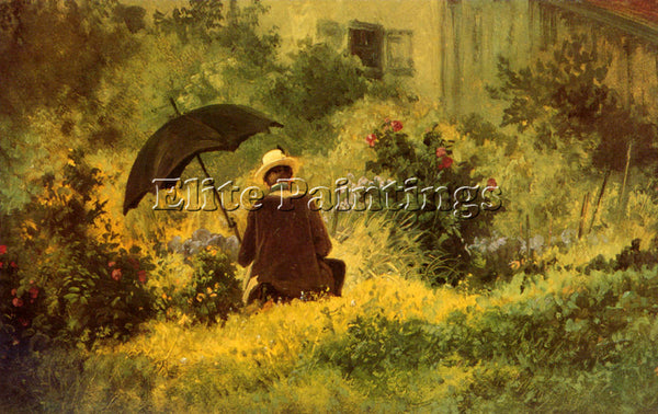 CARL SPITZWEG THE BOTANIST ARTIST PAINTING REPRODUCTION HANDMADE OIL CANVAS DECO