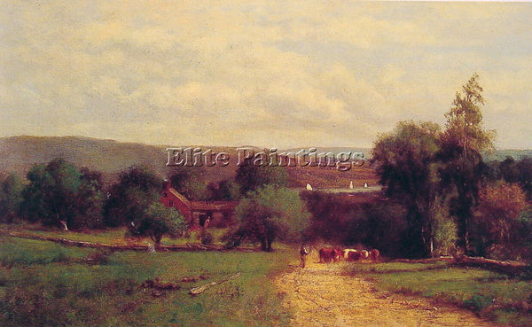 GEORGE INNESS SPRING ARTIST PAINTING REPRODUCTION HANDMADE OIL CANVAS REPRO WALL