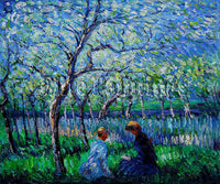 FAMOUS PAINTINGS SPRING MONET 20X24 ARTIST PAINTING REPRODUCTION HANDMADE OIL