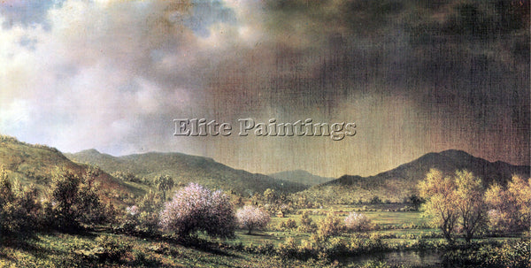 HUDSON RIVER SPRING RAIN VALLEY OF CONNECTICUT BY MARTIN JOHNSON HEADE PAINTING