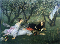 TISSOT SPRINGTIME ARTIST PAINTING REPRODUCTION HANDMADE CANVAS REPRO WALL DECO
