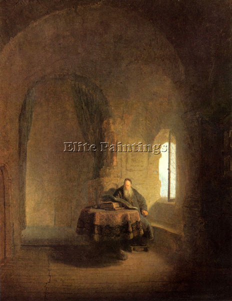 REMBRANDT ST ANASTASIUS ARTIST PAINTING REPRODUCTION HANDMADE CANVAS REPRO WALL