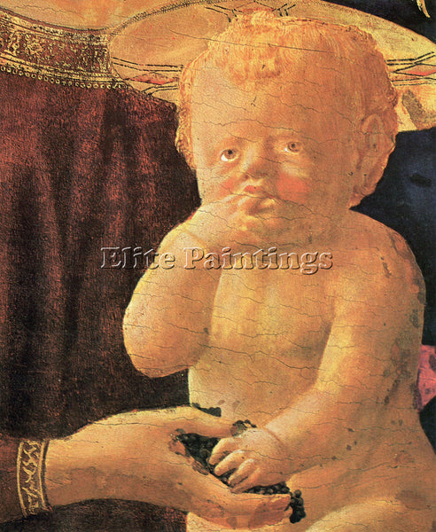 MASACCIO ST ANNE CENTRAL TABLE THE VIRGIN AND CHILD DETAIL CHILD ARTIST PAINTING