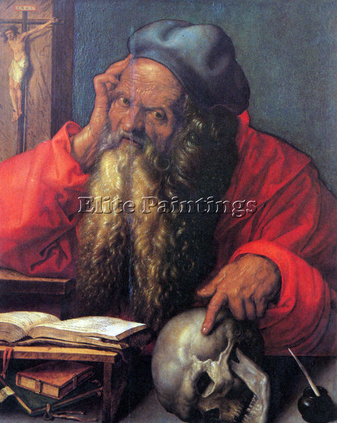 DURER ST HIERONYMUS ARTIST PAINTING REPRODUCTION HANDMADE CANVAS REPRO WALL DECO