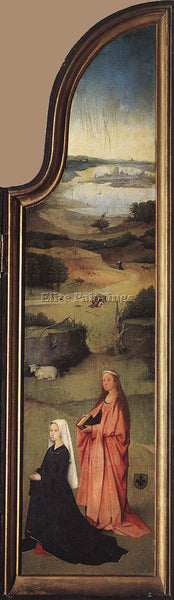 HIERONYMUS BOSCH ST AGNES WITH THE DONOR ARTIST PAINTING REPRODUCTION HANDMADE
