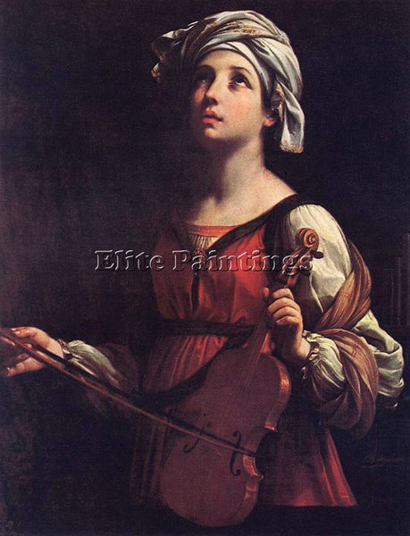 GUIDO RENI ST CECILIA ARTIST PAINTING REPRODUCTION HANDMADE OIL CANVAS REPRO ART