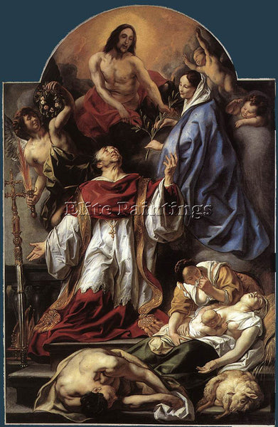 JACOB JORDAENS ST CHARLES CARES FOR THE PLAGUE VICTIMS OF MILAN ARTIST PAINTING