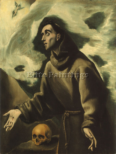 EL GRECO ST FRANCIS RECEIVING THE STIGMATA ARTIST PAINTING REPRODUCTION HANDMADE