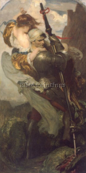 SOLOMON JOSEPH ST GEORGE ARTIST PAINTING REPRODUCTION HANDMADE CANVAS REPRO WALL