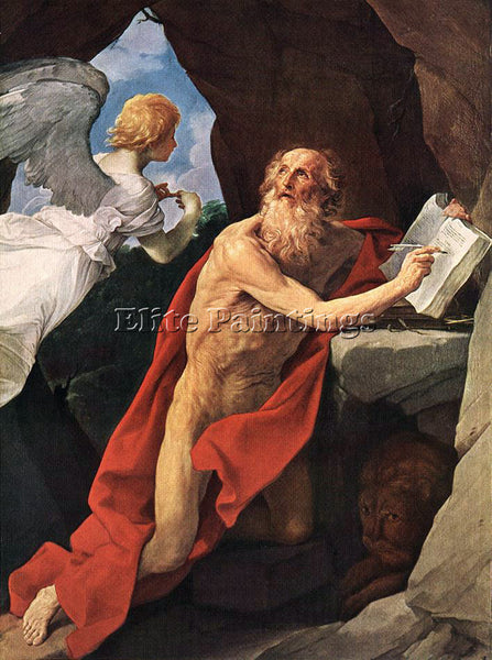 GUIDO RENI ST JEROME 1 ARTIST PAINTING REPRODUCTION HANDMADE CANVAS REPRO WALL
