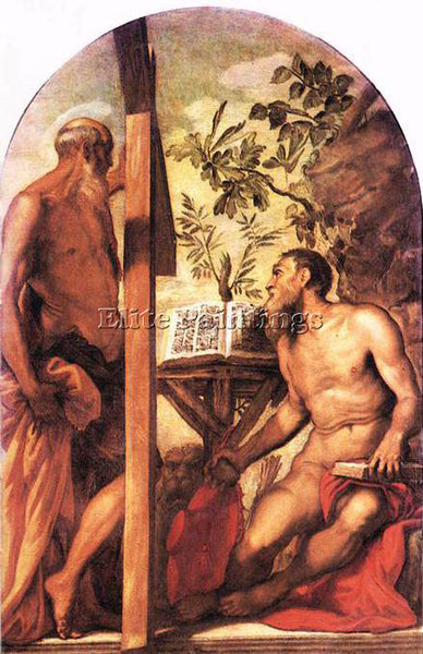 JACOPO ROBUSTI TINTORETTO ST JEROME AND ST ANDREW ARTIST PAINTING REPRODUCTION