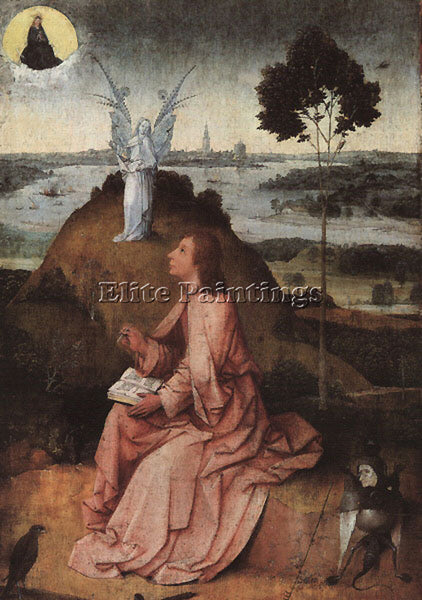 HIERONYMUS BOSCH ST JOHN ON PATMOS ARTIST PAINTING REPRODUCTION HANDMADE OIL ART