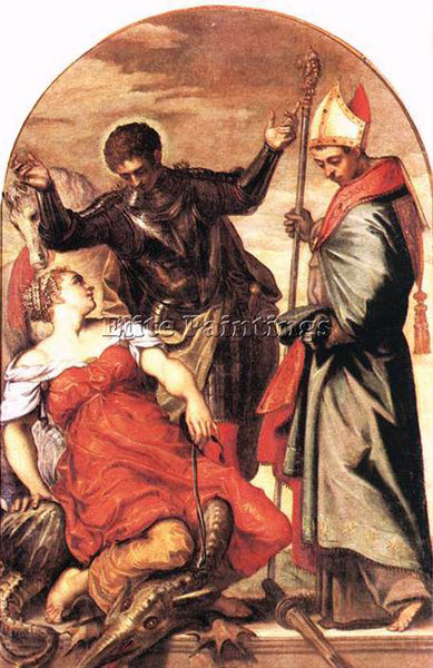 JACOPO ROBUSTI TINTORETTO ST LOUIS ST GEORGE AND THE PRINCESS PAINTING HANDMADE