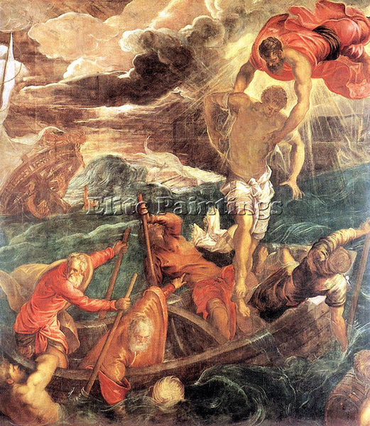 JACOPO ROBUSTI TINTORETTO ST MARK SAVING A SARACEN FROM SHIPWRECK ARTIST CANVAS