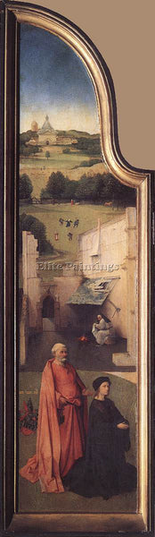 HIERONYMUS BOSCH ST PETER WITH THE DONOR ARTIST PAINTING REPRODUCTION HANDMADE