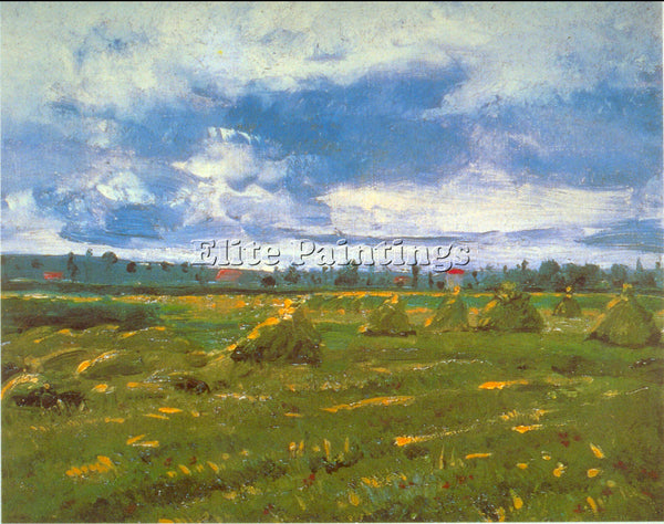 VAN GOGH STACKS ARTIST PAINTING REPRODUCTION HANDMADE CANVAS REPRO WALL  DECO