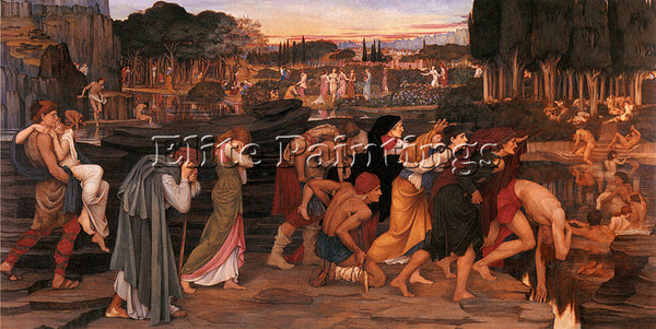 JOHN RODDAM SPENCER STANHOPE THE WATERS OF LETHE BY PLAINS OF ELYSIUM ARTIST OIL