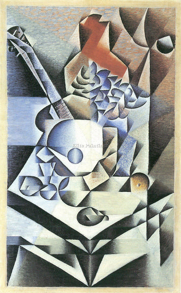 JUAN GRIS STILL LIFE WITH FLOWERS ARTIST PAINTING REPRODUCTION HANDMADE OIL DECO