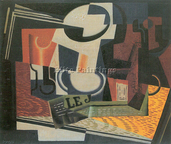 JUAN GRIS STILL LIFE WITH FRUIT BOWL ARTIST PAINTING REPRODUCTION HANDMADE OIL