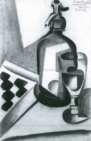 JUAN GRIS STILL LIFE WITH SIPHON ARTIST PAINTING REPRODUCTION HANDMADE OIL REPRO