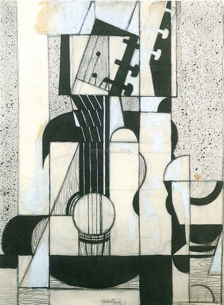 JUAN GRIS STILL LIFE WITH GUITAR ARTIST PAINTING REPRODUCTION HANDMADE OIL REPRO