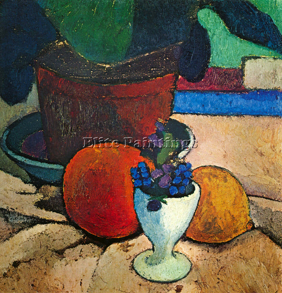 PAULA MODERSOHN-BECKER STILL LIFE WITH LEMON ORANGE AND TOMATO PAINTING HANDMADE