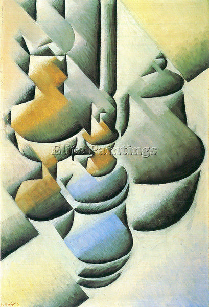 JUAN GRIS STILL LIFE WITH OIL LAMP ARTIST PAINTING REPRODUCTION HANDMADE OIL ART