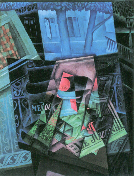 JUAN GRIS STILL LIFE AND URBAN LANDSCAPE PLACE RAVIGNAN  ARTIST PAINTING CANVAS