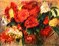 RENOIR STILL LIFE WITH CHRYSANTHEMUMS ARTIST PAINTING REPRODUCTION HANDMADE OIL