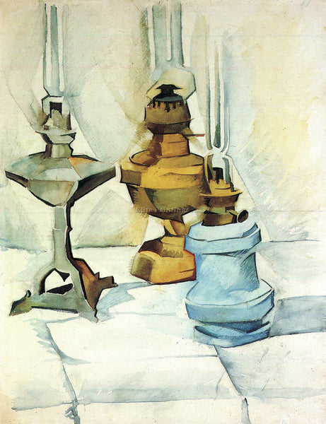 JUAN GRIS STILL LIFE WITH THREE LAMPS ARTIST PAINTING REPRODUCTION HANDMADE OIL