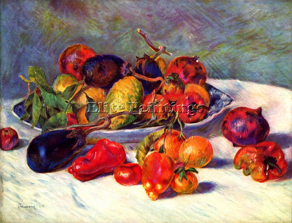 RENOIR STILL LIFE WITH TROPICAL FRUITS ARTIST PAINTING REPRODUCTION HANDMADE OIL