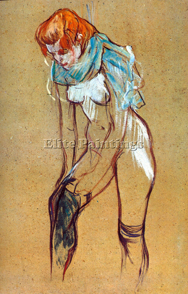 TOULOUSE-LAUTREC STOCKINGS ARTIST PAINTING REPRODUCTION HANDMADE OIL CANVAS DECO