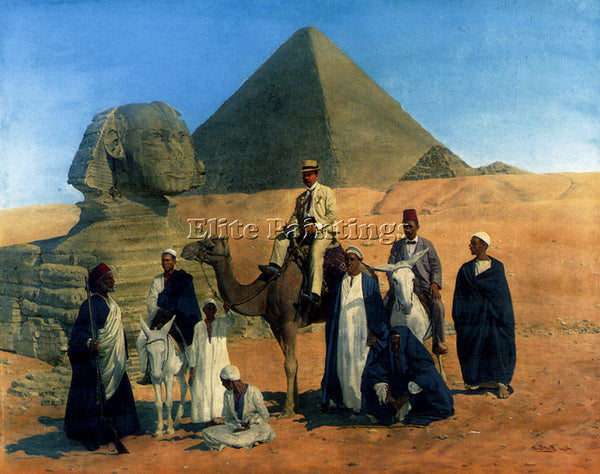 STOFF ALOIS IN SEARCH OF THE PHARAOHS ARTIST PAINTING REPRODUCTION HANDMADE OIL