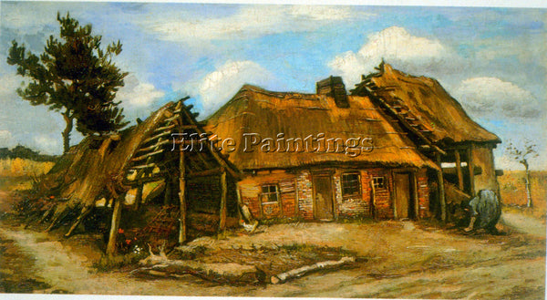VAN GOGH STOOPING WOMAN ARTIST PAINTING REPRODUCTION HANDMADE CANVAS REPRO WALL