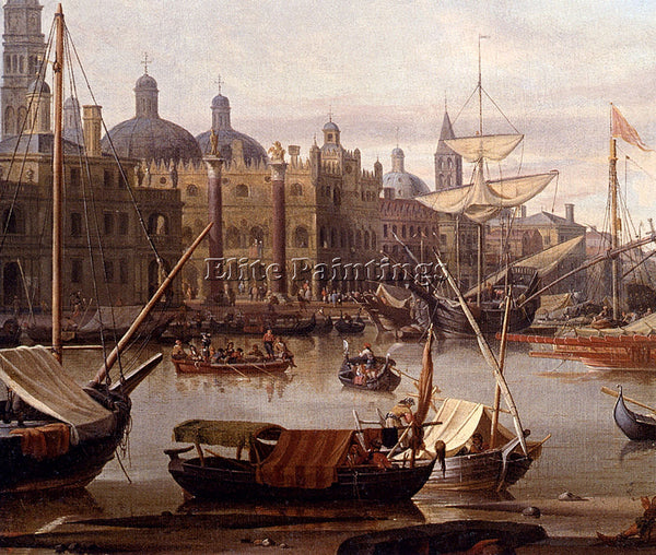 STORCK ABRAHAM JANSZ A CAPRICCIO OF THE GRAND CANAL VENICE DETAIL ARTIST CANVAS