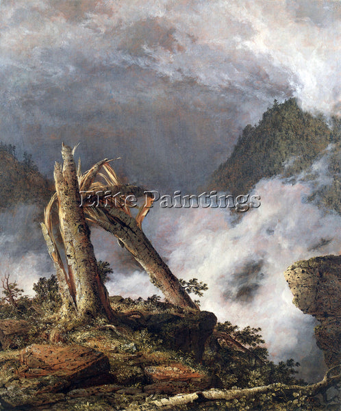 HUDSON RIVER STORM IN THE MOUNTAINS BY FREDERICK EDWIN CHURCH PAINTING HANDMADE