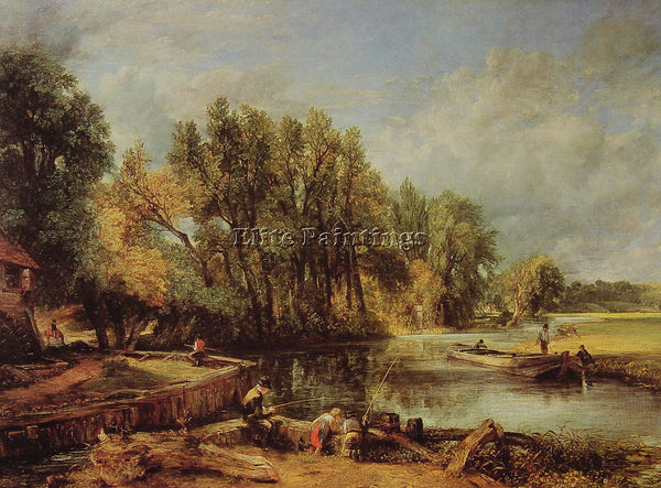 JOHN CONSTABLE STRATFORD MILL ARTIST PAINTING REPRODUCTION HANDMADE CANVAS REPRO