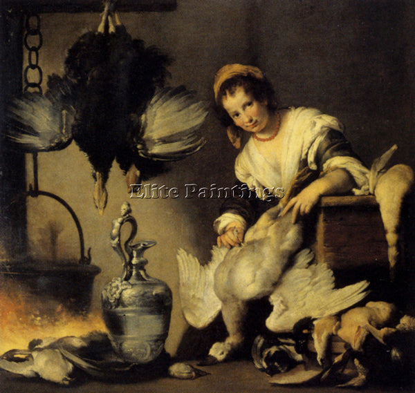 STROZZI BERNARDO THE COOK ARTIST PAINTING REPRODUCTION HANDMADE OIL CANVAS REPRO