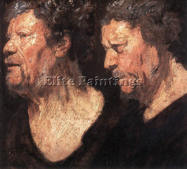 JACOB JORDAENS STUDIES OF THE HEAD OF ABRAHAM GRAPHEUS ARTIST PAINTING HANDMADE