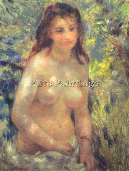 PIERRE AUGUSTE RENOIR STUDY TORSO SUNLIGHT EFFECT ARTIST PAINTING REPRODUCTION