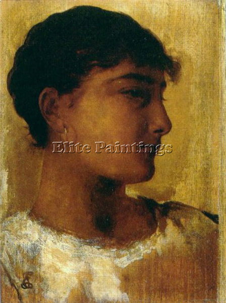 EDWIN LONGSDEN LONG STUDY OF A YOUNG GIRLS HEAD ANOTHER VIEW ARTIST PAINTING OIL