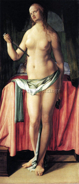 DURER SUICIDE OF LUCRETIA ARTIST PAINTING REPRODUCTION HANDMADE OIL CANVAS REPRO