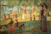 SEURAT SUNDAY AFTERNOON ARTIST PAINTING REPRODUCTION HANDMADE CANVAS REPRO WALL