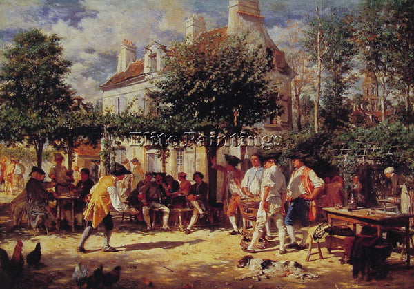 JEAN-LOUIS ERNEST MEISSONIER SUNDAY IN POISSY ARTIST PAINTING REPRODUCTION OIL