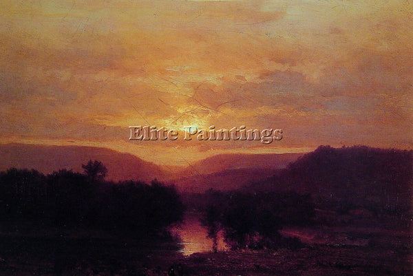GEORGE INNESS SUNSET ARTIST PAINTING REPRODUCTION HANDMADE OIL CANVAS REPRO WALL