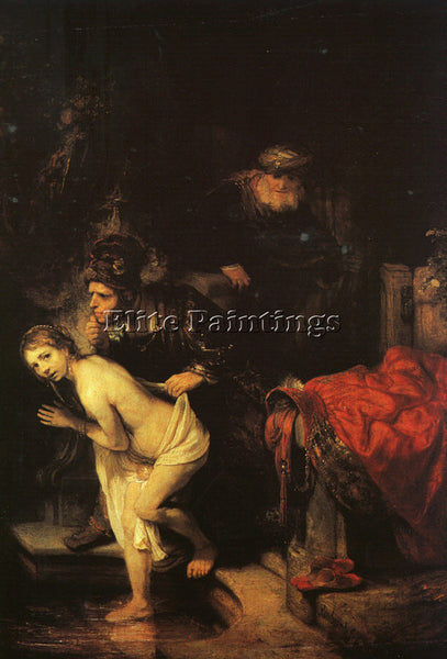 REMBRANDT SUSANNA AND THE ELDERS DETAIL ARTIST PAINTING REPRODUCTION HANDMADE