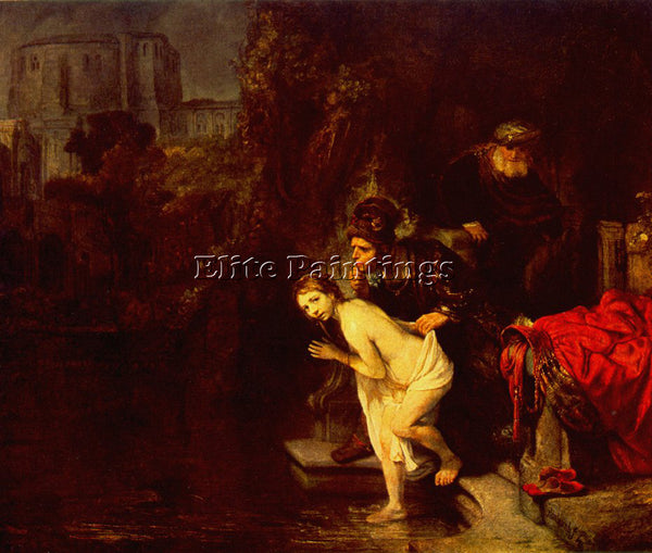REMBRANDT SUZANNA IN THE BATH ARTIST PAINTING REPRODUCTION HANDMADE CANVAS REPRO