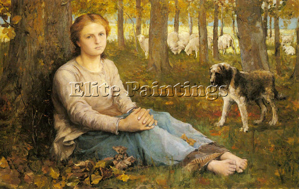 BRITISH SWAN JOHN MACALLAN A SHEPHERDESS AND HER FLOCK ARTIST PAINTING HANDMADE