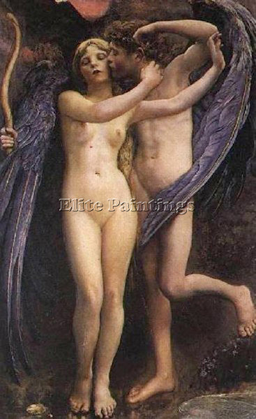 BRITISH SWYNNERTON CUPID AND PSYCHE ARTIST PAINTING REPRODUCTION HANDMADE OIL
