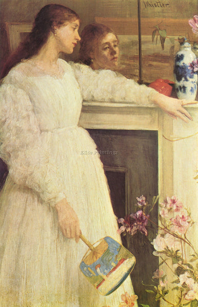 JAMES ABBOT MCNEILL SYMPHONY IN WHITE NO 2 GIRLS IN WHITE WHISTLER REPRODUCTION